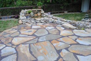 loveland flagstone patio berthoud flagstone patio design with water feature in northern colorado